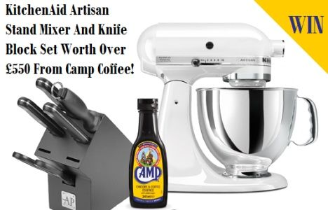 Win A KitchenAid Artisan Stand Mixer And Knife Block Set Worth Over £550 From Camp Coffee