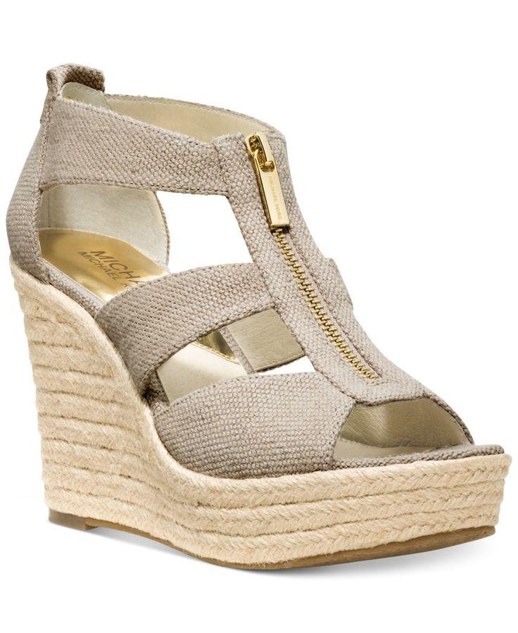 MICHAEL Michael Kors Shoes, Damita Platform Wedge Sandals - Espadrilles & Wedges - Shoes - Macy's