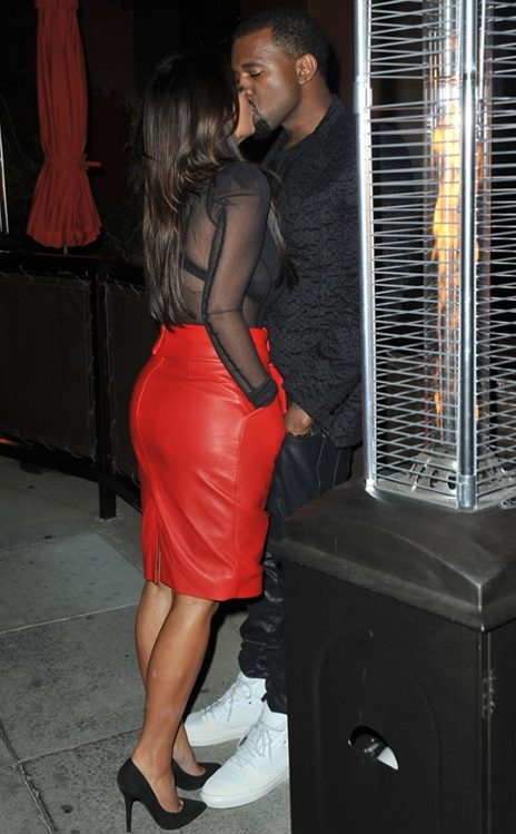 Kim Kardashian and Kanye West.