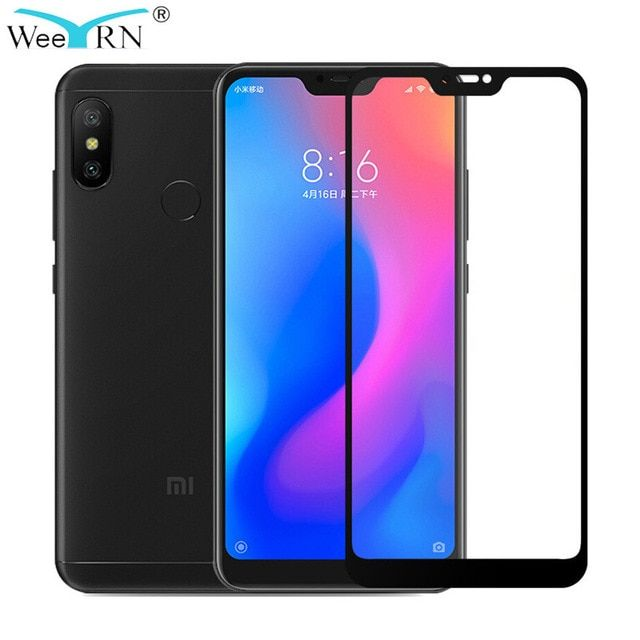 Weeyrn For Xiaomi Mi A2 Lite Protective Glass Tempered Glass Screen Protector Xia Tempered Glass Screen Protector Glass Screen Protector Phone Screen Protector