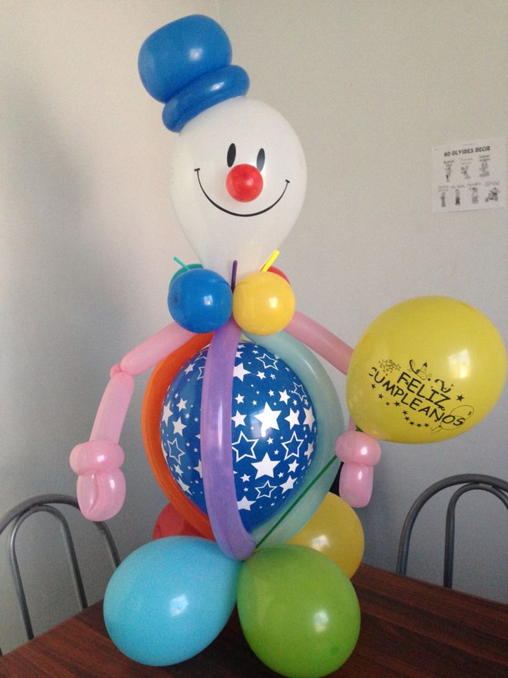 25 best ideas about payaso con globos on pinterest for Decoracion con globos