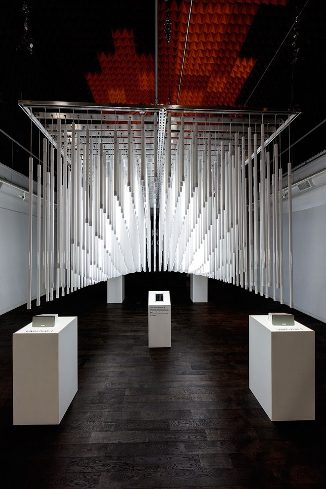 Interactive Light Installation Composed of 600 Fluorescent Light Tubes   Wave Avenue