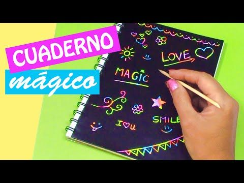 Manualidades: CUADERNO MÁGICO! DIY regreso a clases - Innova Manualidades - YouTube