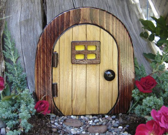 Fairy door gnome door hobbit door elf door troll door by for Elf fairy doors