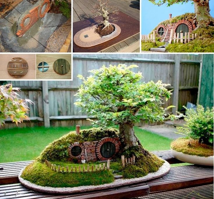 30 ideas creativas con plantas para decorar tu hogar y for Casita madera jardin