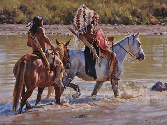 """Into the Sun"" by Jason Rich (Cowboy Artist)"