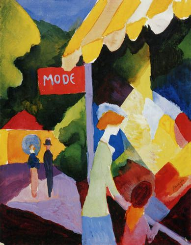 Macke August-modefenster (fashion window shop)
