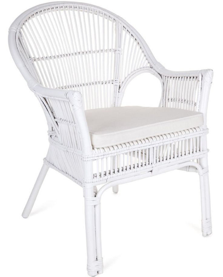 White Rattan Chair Endearing Wicker Accent Chair With