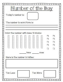 Meaningful Math {Common Core Daily Math-Number of the Day,