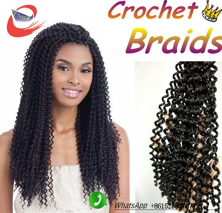 Color #2 Freetress Braided kinky curly hair Crochet Braids Hair 18inch freetress braiding hair Synthetic crochet Braiding Hair