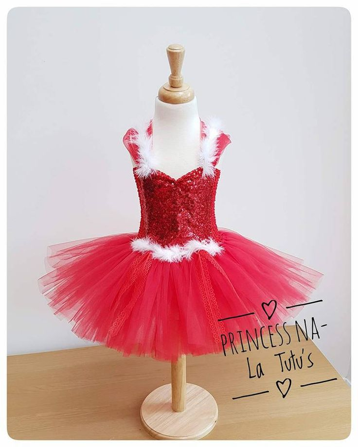 Red Dress - Christmas Tutu Dress - XMas Dress - Red Sparkly Outfit - Holiday Dress - Party Tutu - Santa Little Helper - White Fur - Red Lace by PrincessNaLatutus on Etsy