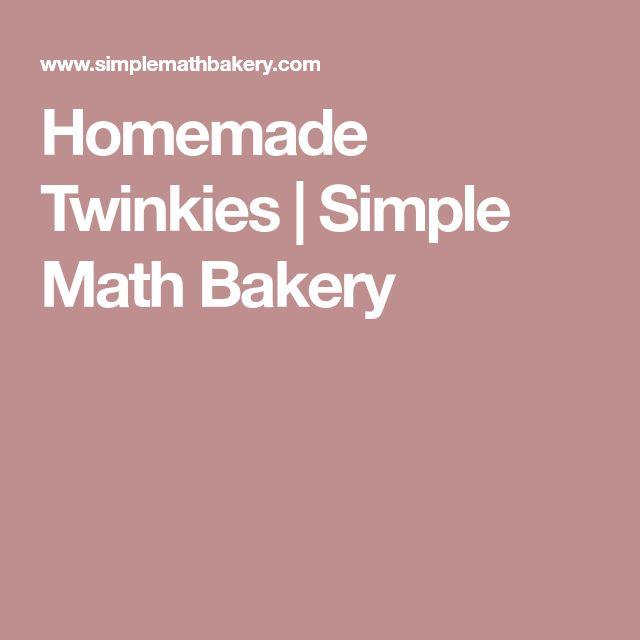 Homemade Twinkies | Simple Math Bakery