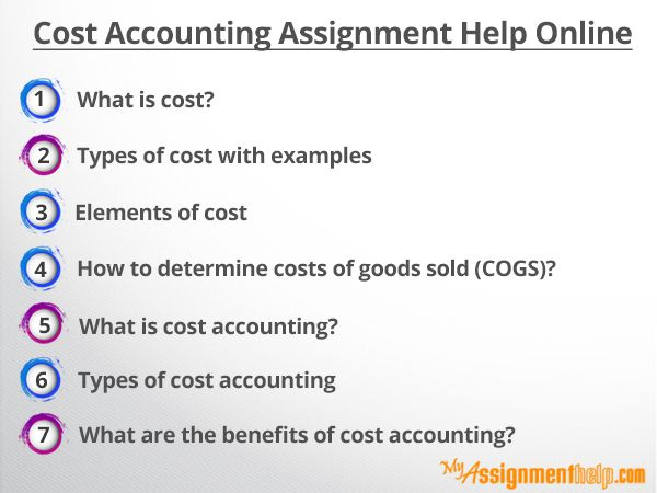 Cost Accounting Assignment Help Online