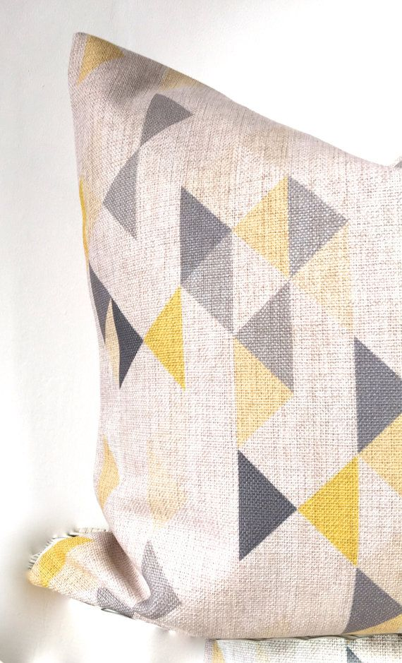 Geometric pillow cover geometric cushion cover in от AugustPlaceUK