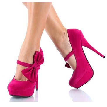 Pink Pink Pink, Colors, Pink Heels, Pink Bows, Pinkpinkpink, Hot Pink, High Heels, Pink Shoes, Mary Jane