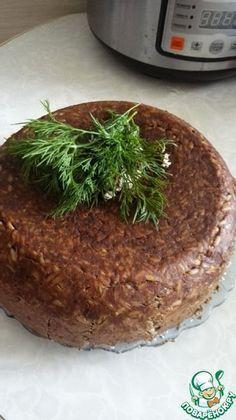 Печеночный пирог с рисом в мультиварке