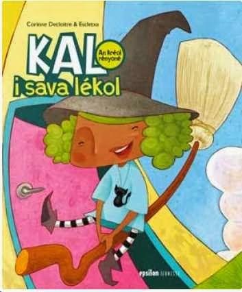 une histoire de granmèr kal, lorsqu'elle était jeune et allait à l'école - une histoire écrite en créole réunionnais