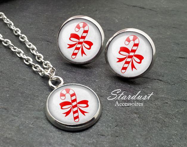 Schmuckset silber ❅ Zuckerstange ❅ von Stardust Accessoires auf DaWanda.com