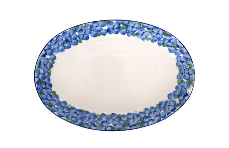 Azulina Ceramics - Flora Oval Serving Platter