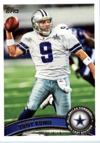 tony romo football cards | Topps Football Card #360 Tony Romo - Dallas Cowboys - NFL Trading Card ...