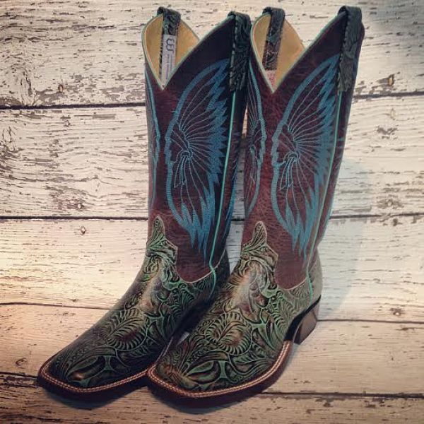 Anderson Bean Jungle Fever Cowboy Boots