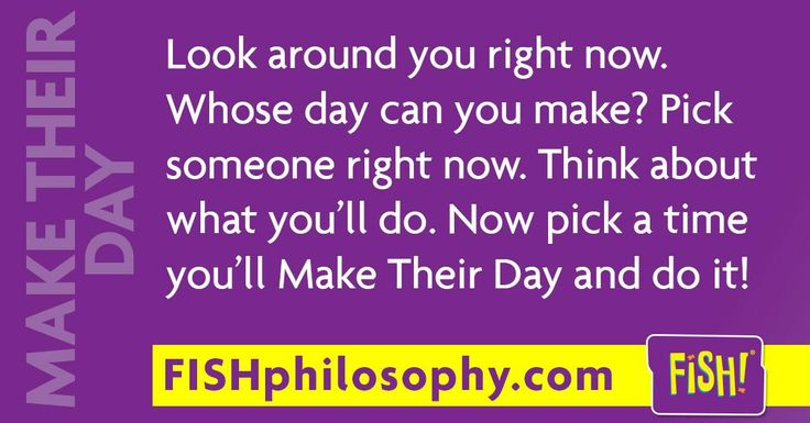 A little #MakeTheirDay gesture can make a big difference! - with #FISHphilosophy via (@The FISH! Philosophy) and #Propellergirl                                                                                                                                                                                 More