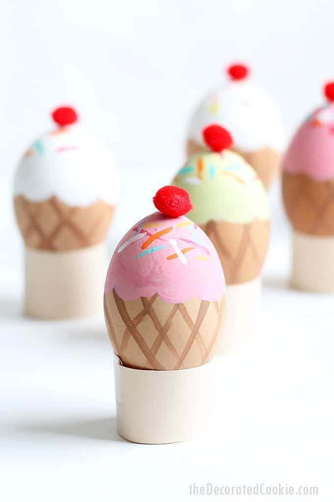 ICE CREAM CONE EASTER EGGS– Fun and silly Ice cream cone Easter egg decorating …