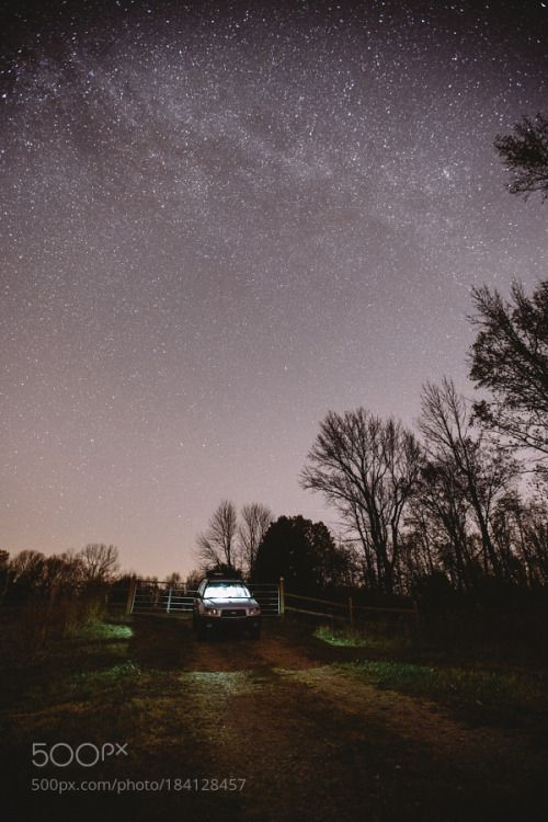 Out in the middle of nowhere. by Lurkerlife  sky car november 16-35mm subaru milky way gravel dirt road indiana evansville subaru forester canon