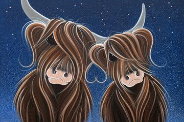 Twinkle in your Eye by Jennifer Hogwood, Edition of 95, Embellished Canvas, £495, 20 x 30 inches