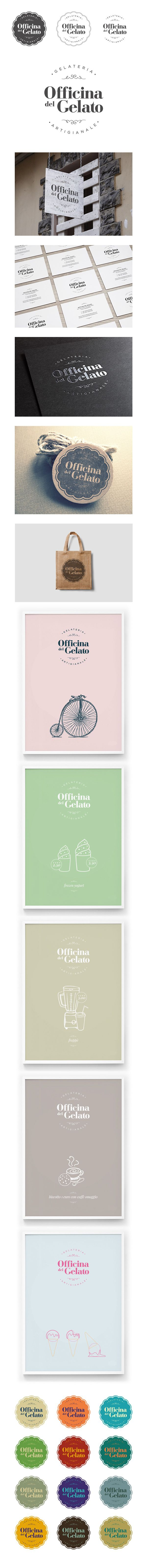 Officina del Gelato - Identity on Behance