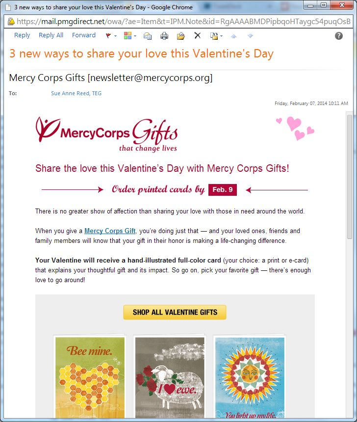 Mercy Corps Valentine's Day Gifts