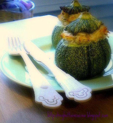 Una streghetta in cucina: Zucchine tonde ripiene di basmati alla ricotta e t...