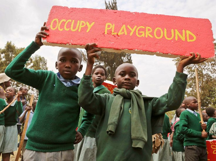 """Hundreds of elementary schools were protesting the illegal seizure of their playground by a private developer in #Nairobi, #Kenya, when police fired tear gas into the crowd. The incident sparked outrage on social media, where #Kenyans tweeted with the hashtag #OccupyPlayGround. The process is known as """"land-grabbing."""" Losing your Land: Dispossession in the Great Lakes http://boybrew.co/9781847011053 Disrupting Territories: Land, Commodification & Conflict in Sudan…"""
