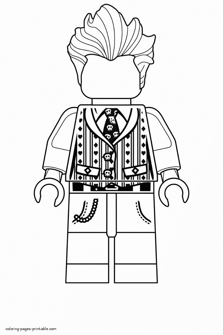 Lego Joker Coloring Page Awesome Lego Joker Coloring Pages