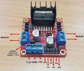 Arduino DC Motor Control using L298N Motor Driver Module Pins