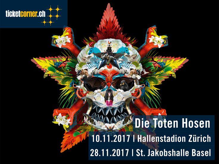 Mit dem neusten Album «Laune der Natour» gehen Die Toten Hosen noch dieses Jahr auf grosse Tour. Dabei gastieren die Punklegenden am 10. November 2017 im Hallenstadion Zürich und am 28. November 2017 in der St. Jakobshalle Basel.