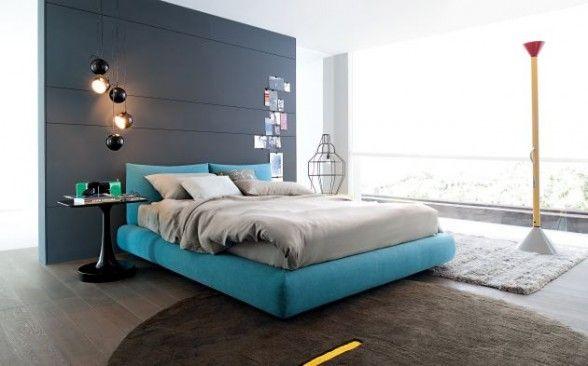 decoracion habitacion masculina turquesa