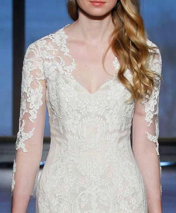 Ines Di Santo Silvine wedding gown detail via Wedding Chicks on Facebook
