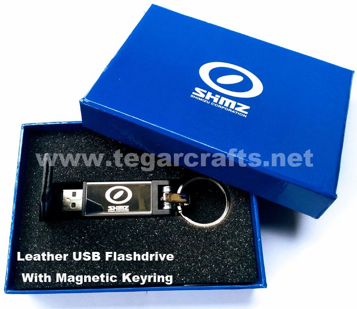 Tegarcrafts also provides custom box making service for your customized flashdisk design and the color can be customized with your company image & services. As shown picture above an USB flashdrive with deluxe blue box and branding logo ordered by PT. Shimizu Corporation Indonesia, Jakarta Office, Jakarta.
