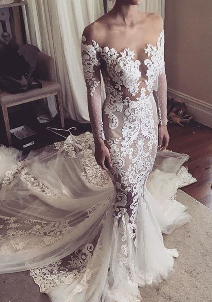 white wedding dresses,princess wedding dresses,lace wedding dresses,simple bridal dresses,mermaid wedding dresses @simpledress2480