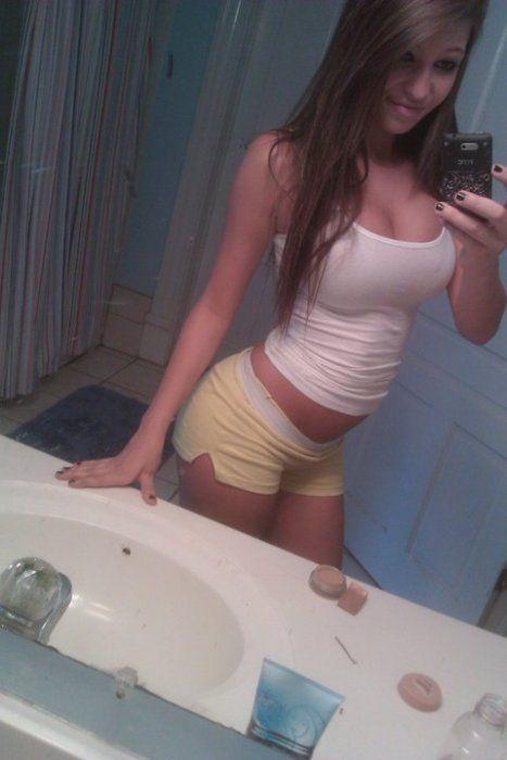 nude women in skirts selfshot