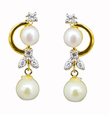 Classique Designer Jewellery Alloy Dangle & Drop Earring  Women (White) Necklaces and Necklace Sets on Shimply.com