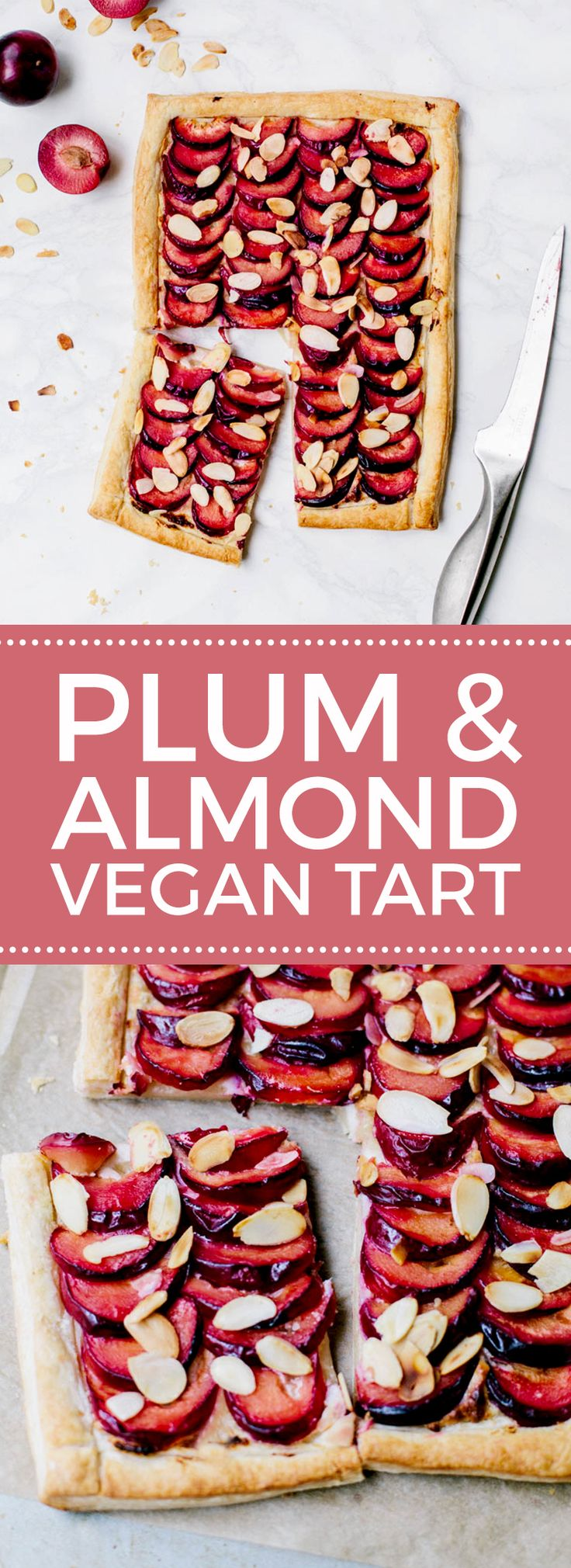 Plum & Almond Tart #Vegan