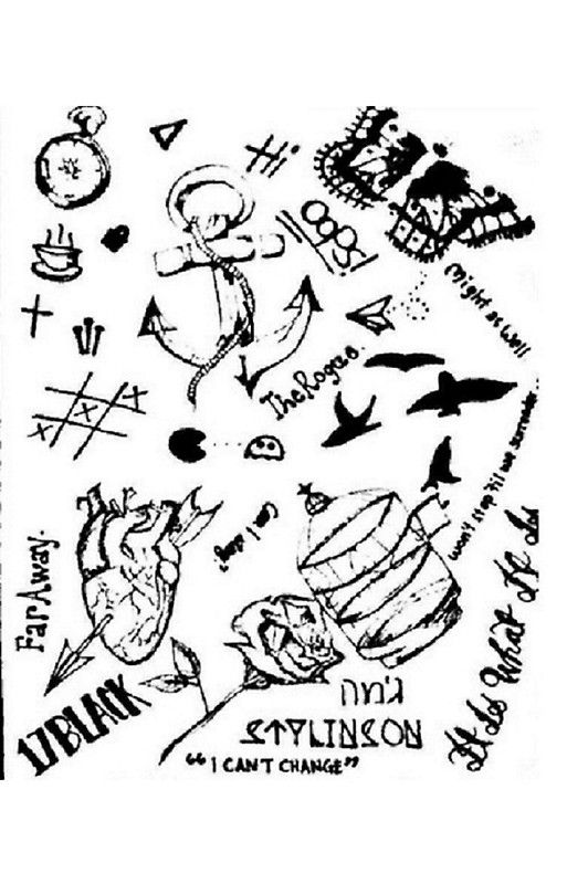 Larry Stylinson tattoos