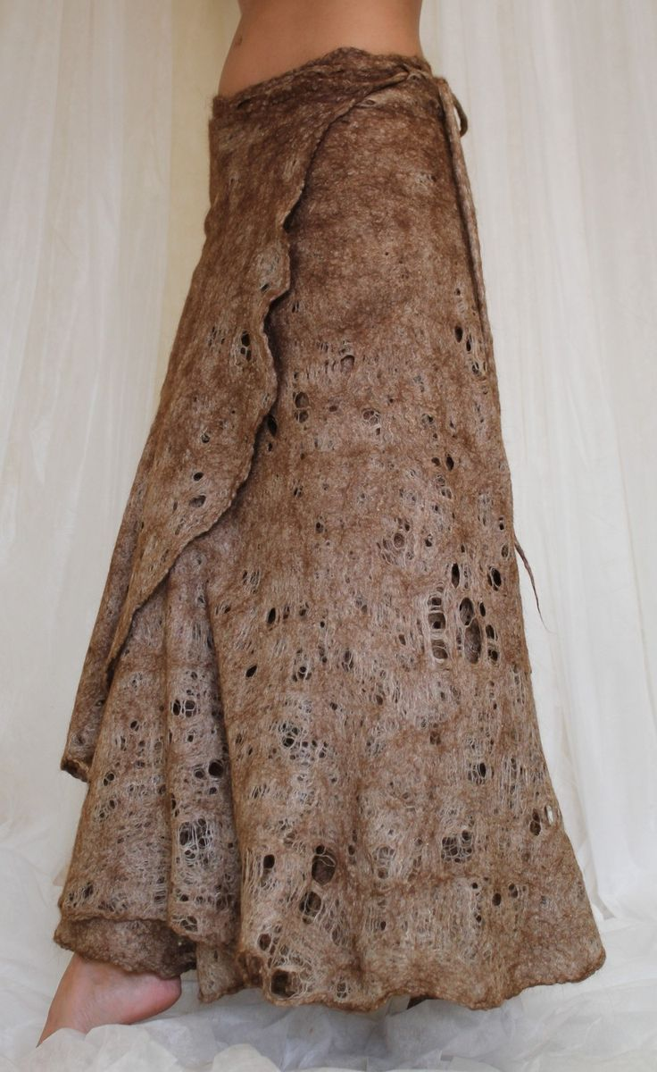 Cobweb felted skirt; no longer available, but made by doseth on etsy for probably $150 or more.