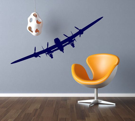 Airplane Vinyl Decals Aviation Wall Decor By