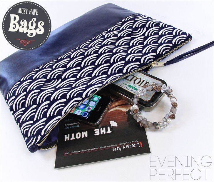 Oversize Zippered Clutch: Must-Have Bags with Fabric.com   Sew4Home
