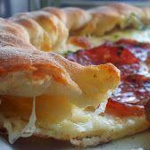 pizza cu bordura de mozzarella