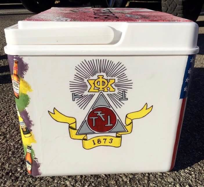 COOLERSbyU Examples | Phi Sigma Kappa Crest | Tags: psk, phi sigma kappa, fraternity crest, fraternity cooler