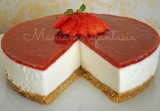 Torta fredda allo yogurt, quasi una cheesecake | mani amore e fantasia